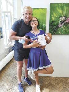 Художница Алина Блинова с папой_1